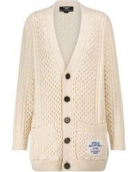 Stella McCartney Cotton-blend Aran Cardigan - Natural