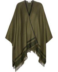Fendi Chal de seda y cachemira - Verde