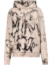 Saint Laurent Tie-dye Cotton Hoodie - Natural