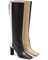 Wandler Isa Leather Knee-high Boots - Black