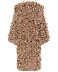 Stella McCartney Cappotto in alpaca e lana - Marrone