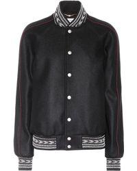 Saint Laurent - Wool Varsity Jacket - Lyst