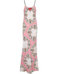 Rodarte Floral Silk Slip Dress - Pink
