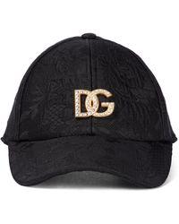 Dolce & Gabbana Gorra de jacquard con logo - Negro
