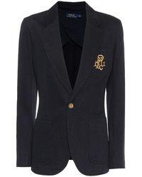 Polo Ralph Lauren Blazer in jersey con logo - Multicolore