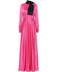 ROKSANDA Lela Silk-satin Gown - Pink