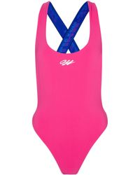 Off-White c/o Virgil Abloh Stretch-jersey Swimsuit - Pink