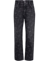 Balenciaga Mid-rise Cropped Jeans - Black