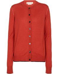 Marni Cardigan aus Wolle und Seide - Rot