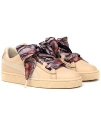 PUMA Sneakers Basket Heart Mimicry in pelle - Multicolore