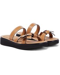 Loewe Gate Leather Sandals - Brown