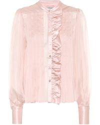 Temperley London Penny Silk-chiffon Shirt - Pink