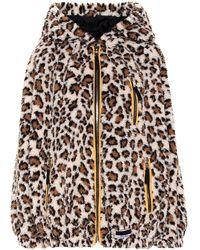 Miu Miu Sweat-shirt à capuche et motif léopard - Multicolore