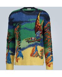 Valentino Dragon At Dawn Knitted Sweater - Multicolor