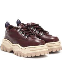 Eytys Angel Platform Leather Sneakers - Brown