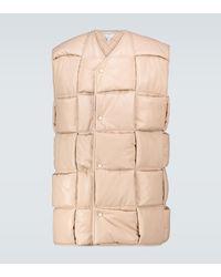 Bottega Veneta Leather Vest - Natural