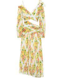 Zimmermann Robe asymétrique plissée et imprimée - Multicolore