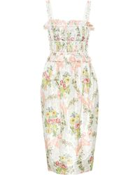 Brock Collection Exclusive To Mytheresa – Palmira Floral Silk-blend Dress - White