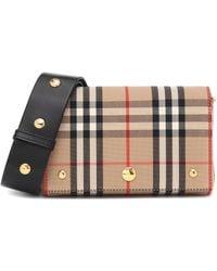Burberry Crossbody-Tasche Small Vintage Check - Natur