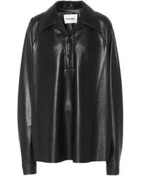 Nanushka Faux-leather Shirt - Black