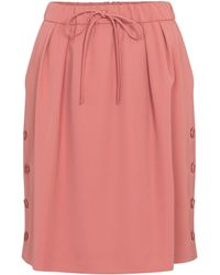 Max Mara Cesena Wool-gabardine Miniskirt - Pink