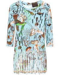 Loewe - X Paula's Ibiza Fringe Cotton T-shirt - Lyst