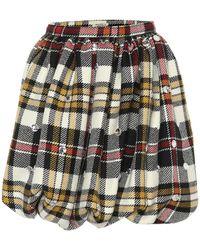Miu Miu Minifalda de lana de cuadros - Multicolor