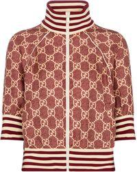 Gucci Chaqueta de chándal GG Supreme - Rojo