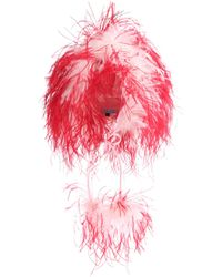 Prada Feather-trimmed Hat - Pink