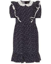 Marc Jacobs The Shirley Cotton-blend Dress - Blue
