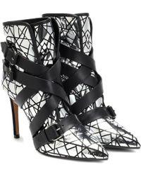 Balmain Ankle Boots aus Leder - Mettallic