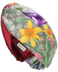 Gucci Fascia per capelli GG Flora in seta - Multicolore