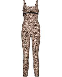 The Upside Seashore Leopard-print Jumpsuit - Brown