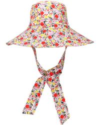 Ganni Exclusive To Mytheresa – Floral Wide-brim Hat - Multicolor