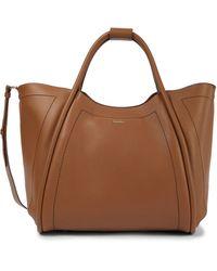 Max Mara Marin Leather Tote - Brown