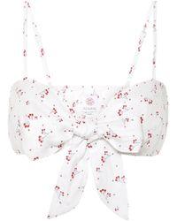 Gül Hürgel Floral Linen Top - White