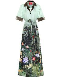 F.R.S For Restless Sleepers - Lelantos Printed Silk Shirt Dress - Lyst