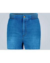 Gucci Short en jean Disney x - Bleu
