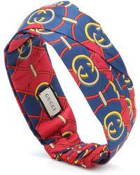 Gucci Haarband aus Seide - Blau