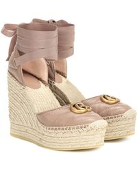Gucci Espadrille-Wedges Marmont - Mehrfarbig