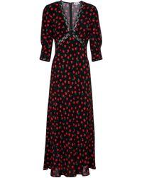 RIXO London Robe longue Gemma à fleurs - Noir