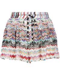 Missoni Short à mailles zigzag et cordon - Multicolore