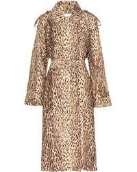 Zimmermann Leopard-print Denim Trench Coat - Natural
