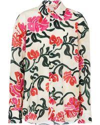 Marni Camisa de algodón floral - Multicolor