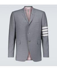 Thom Browne Blazer 4-Bar de lana - Gris