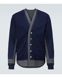 Undercover Wool Knitted Cardigan - Blue