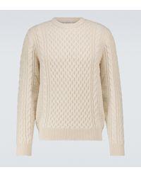 Sunspel Merino Wool Cable-knit Jumper - Natural