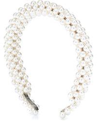 Shrimps Antonia Faux-pearl Headband - Natural