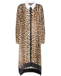 Roberto Cavalli Leopard-print Silk Shirt Dress - Black
