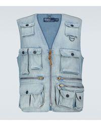 Polo Ralph Lauren Exklusiv bei Mytheresa – Weste Outdoor Vestdorsett - Blau